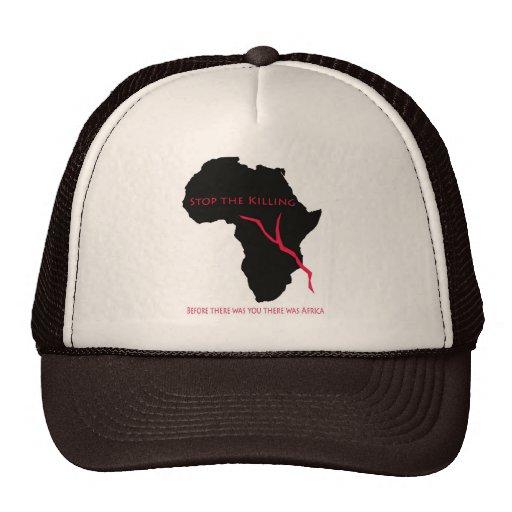 Baseball Cap    Africa Map- Blood Trucker Hat