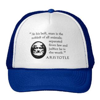 Baseball cap - man, noblest of animals, Aristotle