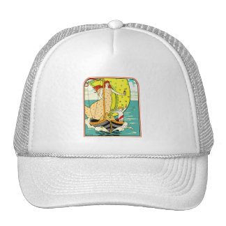 Baseball Cap: Vintage Perfume Ad by L.Rhead Trucker Hat