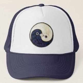 Baseball cap Yin Yang design with doves