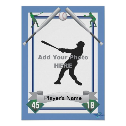 Baseball Card Style Poster
