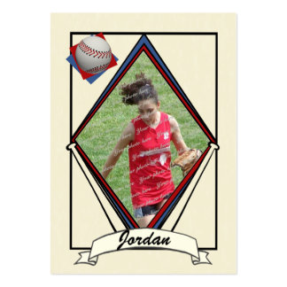 Baseball Card Thank You Favor Pack Of Chubby Business Cards