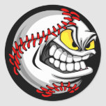 Baseball Cartoon Face Stickers