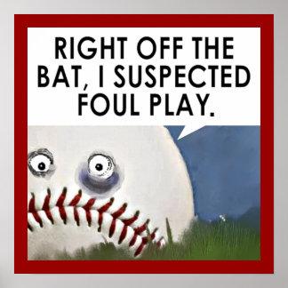 baseball cartoon poster