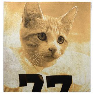 Baseball Cat Napkin