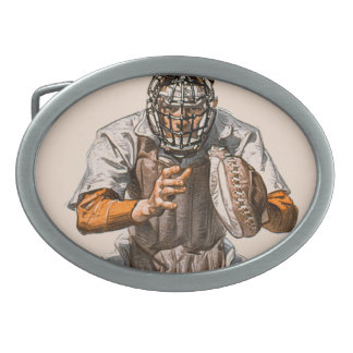 Baseball Catcher Belt Buckles