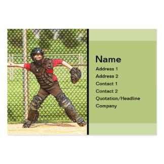 baseball catcher business card template