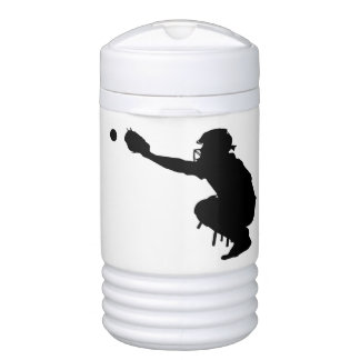 Baseball Catcher Drinks Cooler