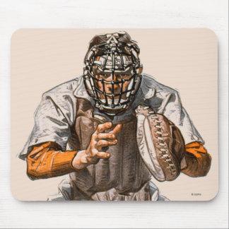 Baseball Catcher Mouse Mat