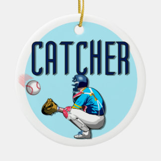 Baseball Catcher T-shirts and Gifts Christmas Ornament