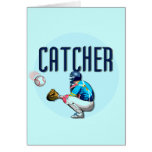 Baseball Catcher T-shirts and Gifts Greeting Card