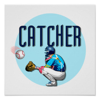 Baseball Catcher T-shirts and Gifts Print