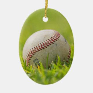 Baseball Ceramic Oval Decoration