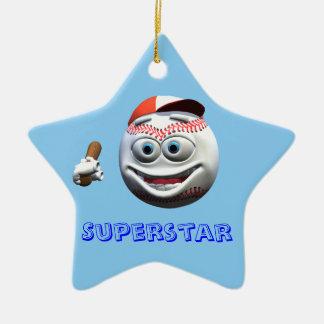 Baseball Ceramic Star Decoration
