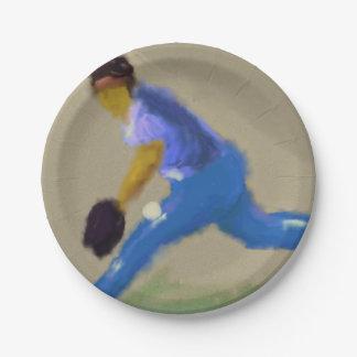 Baseball Champions Art Paper Plate