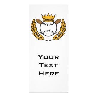 baseball champions logo design customized rack card