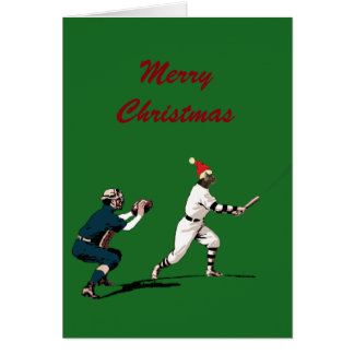 baseball christmas cards