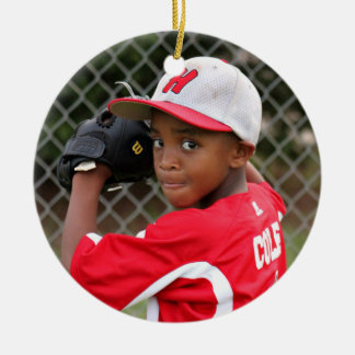 Baseball Christmas Custom Photo Christmas Ornament
