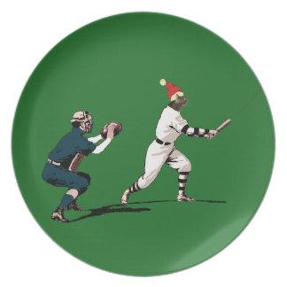baseball christmas gift dinner plate