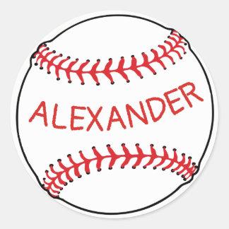 Baseball Classic Round Sticker