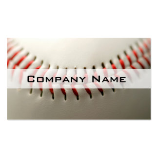 Baseball close up pack of standard business cards