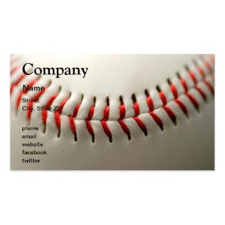 Baseball close up business card template