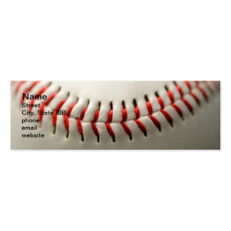 Baseball close up pack of skinny business cards