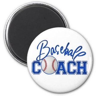 Baseball Coach 6 Cm Round Magnet