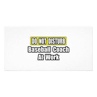 Baseball Coach At Work Photo Greeting Card