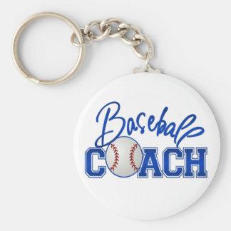 Baseball Coach Basic Round Button Key Ring