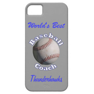 Baseball Coach Blue on Away Grey Case For The iPhone 5