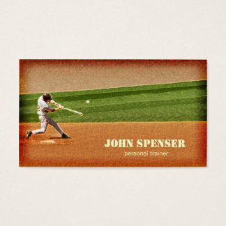 Baseball Coach Business Card