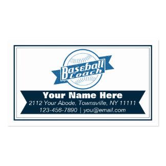 Baseball Coach Customizable Business Cards