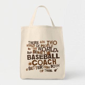 Baseball Coach (Funny) Gift Tote Bags