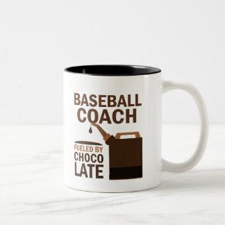 Baseball Coach Gift (Funny) Two-Tone Mug