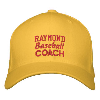 BASEBALL Coach GOLD Embroidered Hat Custom Name