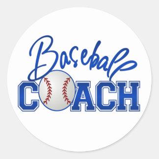 Baseball Coach Round Sticker