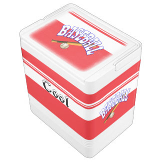 Baseball Cold storage Igloo Cool Box