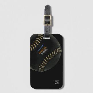 baseball cool personalized bag tag