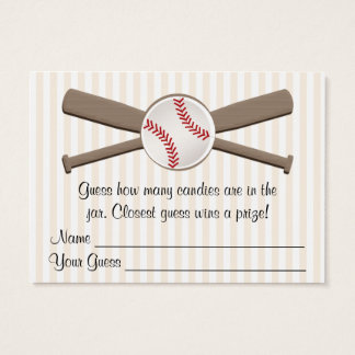 Baseball Crossed Bats Guessing Game Baby Shower