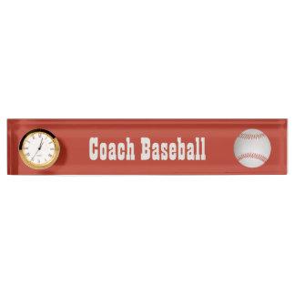 Baseball custom desk nameplate