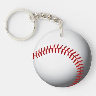 Baseball Custom Double-Sided Round Acrylic Key Ring