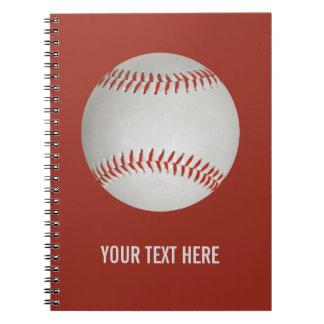 Baseball custom notebook
