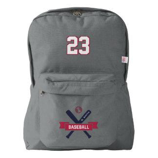 Baseball. Custom Player Name & Number. Backpack