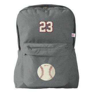Baseball. Custom Player  Name & Number Backpack