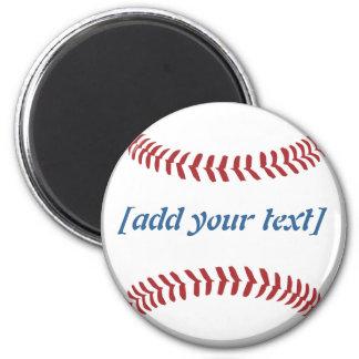 Baseball [custom text] magnet