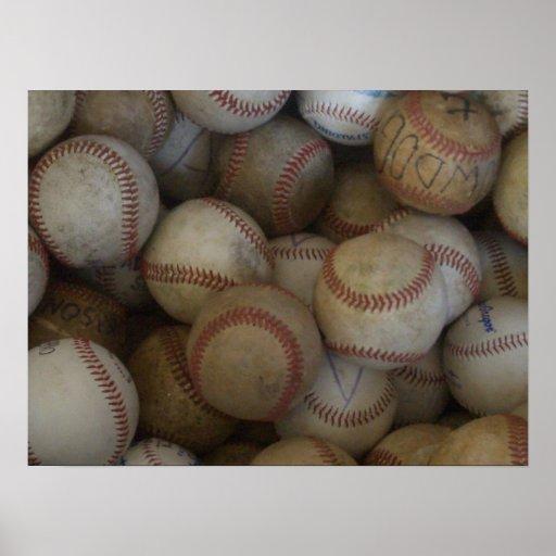 Baseball (customise) poster