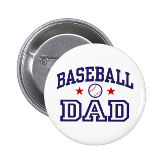 Baseball Dad 6 Cm Round Badge