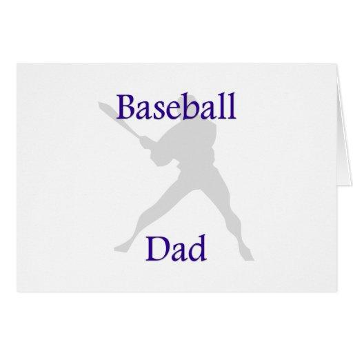Baseball Dad Greeting Card