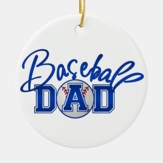 Baseball Dad Christmas Ornament